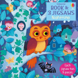 Carte si 3 puzzle-uri, Night Time, Usborne, 3+