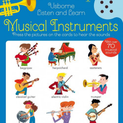 Carte sonora cu instrumente muzicale, Listen and learn musical instruments, usborne