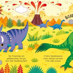 Carte sonora Dinosaur Sounds, Usborne, 3+