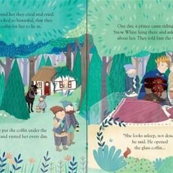 Peep inside a fairy tale: snow white and the seven dwarfs, carte cu multe clapete, usborne