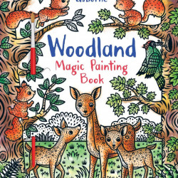 Woodland magic painting book, carte de pictat doar cu apa, usborne