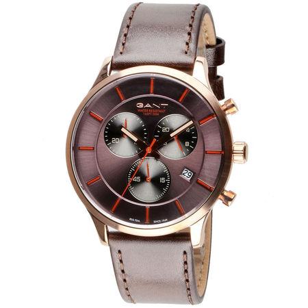 Ceas cronograf barbatesc, Gant, GTAD00201299I, Bronz