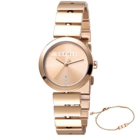 Set ceas si bratara de dama, Esprit, ES1L079M0035, Auriu roze