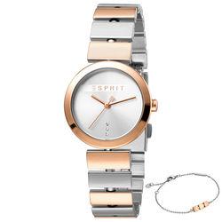 Set ceas si bratara de dama, Esprit, ES1L079M0055, Auriu roze