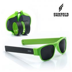Ochelari de soare pliabili unisex SunFold, AC6, Verde
