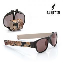 Ochelari de soare pliabili unisex SunFold, TR6, Negru