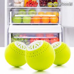 Set de 3 ecobile pentru eliminarea mirosurilor din frigider, InnovaGoods, Galben