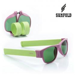Ochelari de soare pliabili unisex SunFold, PA6, Violet