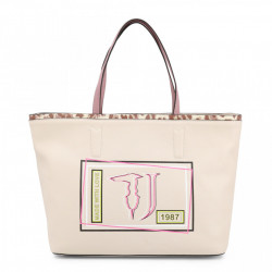 Geanta shopper, dama, Trussardi, LIQUIRIZIA_75B00415-99W002, Bej