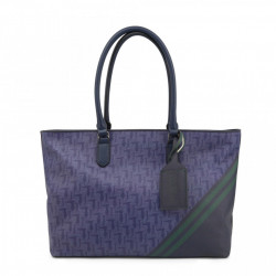 Geanta shopper, dama, Trussardi, VANIGLIA_75B00548-99U280, Bleumarin