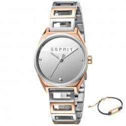 Set ceas si bratara de dama, Esprit, ES1L058M0055, Argintiu