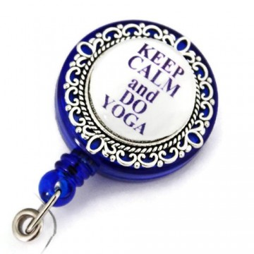 "Poze Accesoriu ecuson - ""Keep calm and do yoga"""