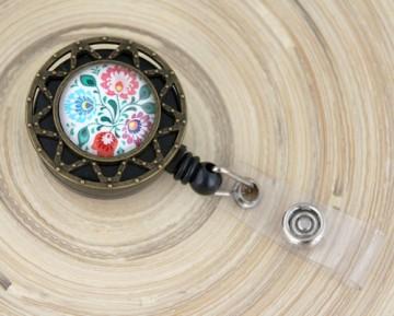 Accesoriu ecuson personalizat cu mandala traditionala