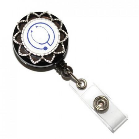 Accesoriu ecuson stetoscop albastru - stea argintie