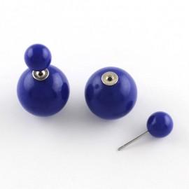 """Cercei """"Double pearl""""(M2) - albastri"""