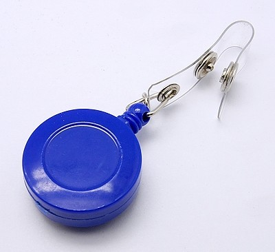 Accesoriu ecuson, mandala albastra - floare argintie