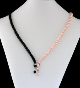Colier perle duo color