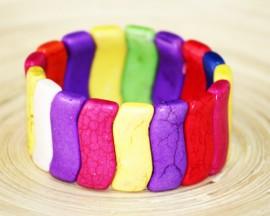 """Bratara howlite """"Color spring"""""""