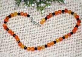 Colier agate orange