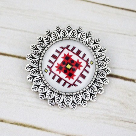 Brosa sun flower personalizata cu motiv traditional - M3