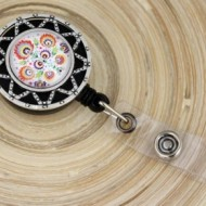 Accesoriu ecuson cu model traditional - stea argintie