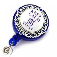 "Accesoriu ecuson - ""Keep calm and do yoga"""