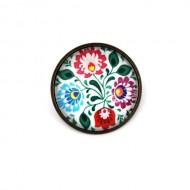Brosa personalizata cu flori traditionale
