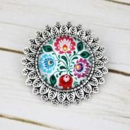 Brosa sun flower personalizata cu flori traditionale