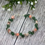 Bratara aventurin&ocean jad