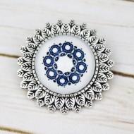 Brosa sun flower personalizata cu mandala albastra M2