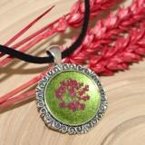 Colier Katy - verde&roz