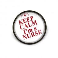 """Brosa cu mesaj personalizat """"Keep calm, I'm a nurse"""""""