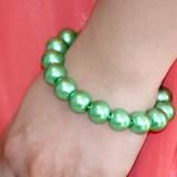 Bratara perle verzi