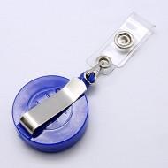Accesoriu ecuson albastru, stea argintie, cu model traditional