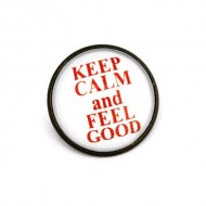 "Brosa cu mesaj personalizat ""Keep calm and feel good"""