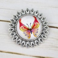 Brosa sun flower personalizata cu fluturas - M2