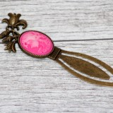 Semn de carte - camee roz