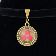 "Colier ""Choker floricica rosie"""