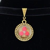 "Colier ""Choker floricica rosie"""