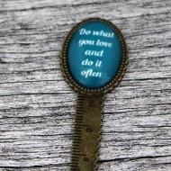 "Semn de carte, cheie gradata, bronz, cu mesaj personalizat - ""Do what you love"""