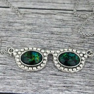 """Colier ochelari de soare - """"Ochi verzi"""""""