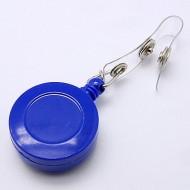 Accesoriu ecuson, personalizat cu bufnita albastra - baza floare argitie
