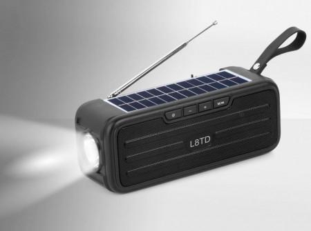BOXA BLUETOOTH SOLARA CU USB SI RADIO