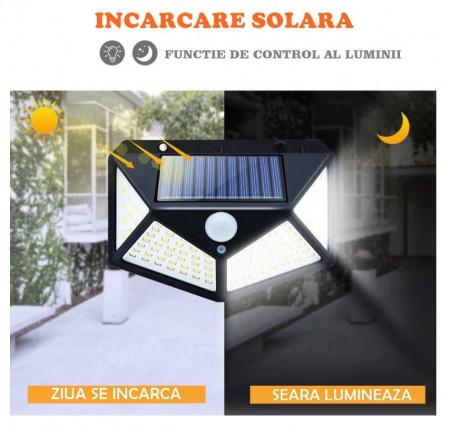 SET 6 LAMPI SOLARE 100 LED SI SENZOR MISCARE - LIVRARE GRATUITA