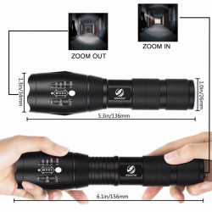 1+1 GRATIS LANTERNA SWAT LED 3W Q5 METALICA REINCARCABILA