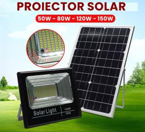 PROIECTOR SOLAR CU TELECOMANDA - 50W/80W/120W/150W