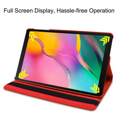 Husa cu Stand Rotativ Samsung Galaxy Tab A 10.1 (2019) - Rosu