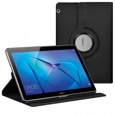 Husa cu Stand Rotativ Tableta Huawei T5 10.1 - Black