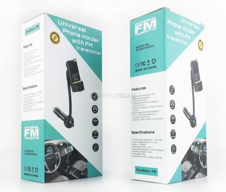 Suport Auto cu Modulator FM, Car Kit Handsfree, Incarcator USB 5V 2.1A