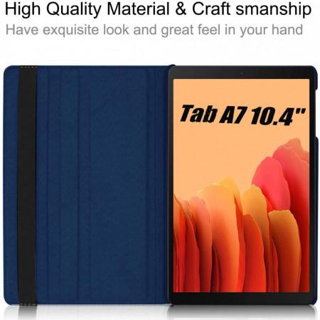 "Husa Samsung Galaxy Tab A7 (2020), 10.4"" cu Stand Rotativ - Albastru Marin"